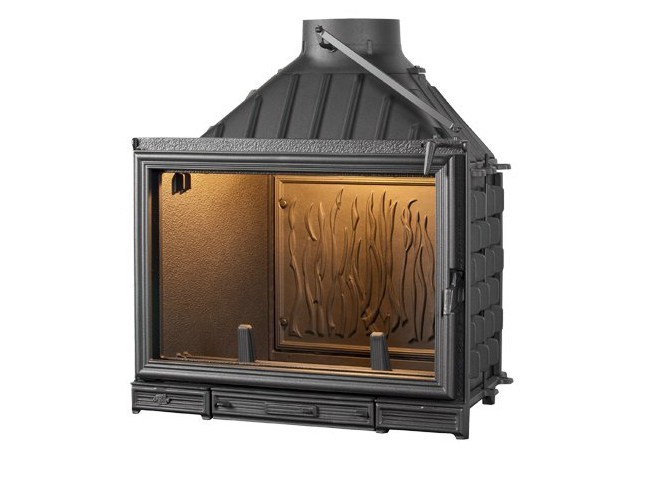 Cast iron Fireplace insert with Panoramic Glass SUNFLAM by CHEMINEES SEGUIN