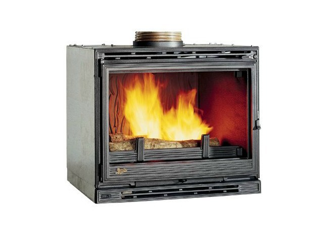 Cast Iron Fireplace Insert With Panoramic Glass Insert 3000 By
