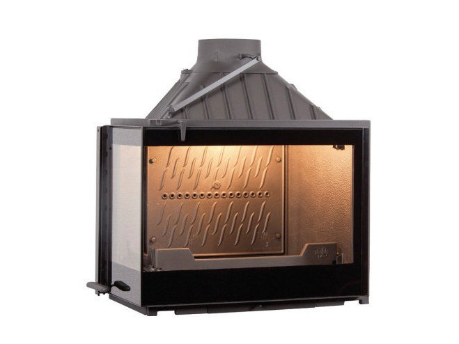Wood-burning cast iron Fireplace insert with Panoramic Glass EUROPA 7 EVO VL by CHEMINEES SEGUIN