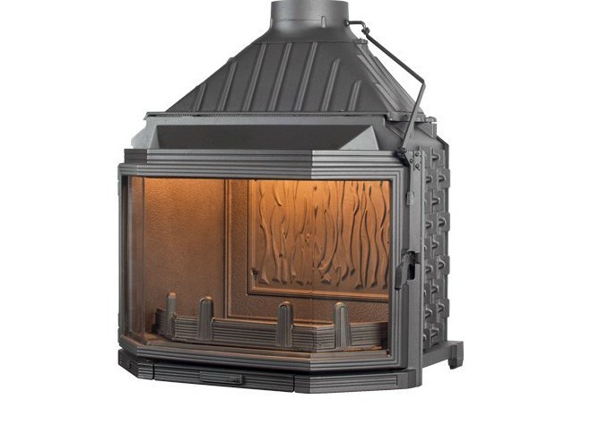 Cast iron Fireplace insert with Panoramic Glass HEXA 8 by CHEMINEES SEGUIN