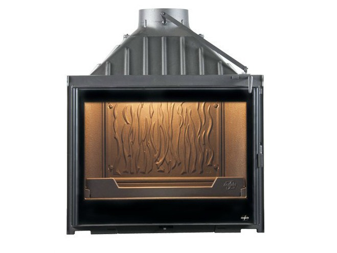 Cast iron Fireplace insert with Panoramic Glass EUROPA 7 EVOLUTION by CHEMINEES SEGUIN