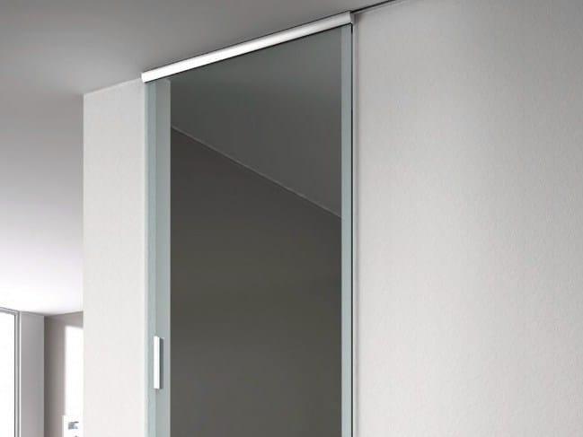 Metal sliding door track Semi-visibile V-1600 by Metalglas Bonomi