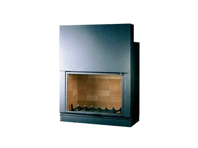 Steel Fireplace insert with Panoramic Glass F 1400 by CHEMINEES SEGUIN