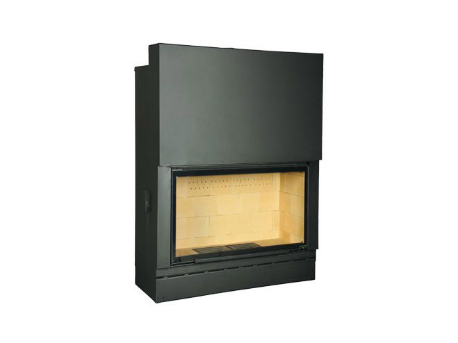 Steel Fireplace insert with Panoramic Glass F 1600 by CHEMINEES SEGUIN