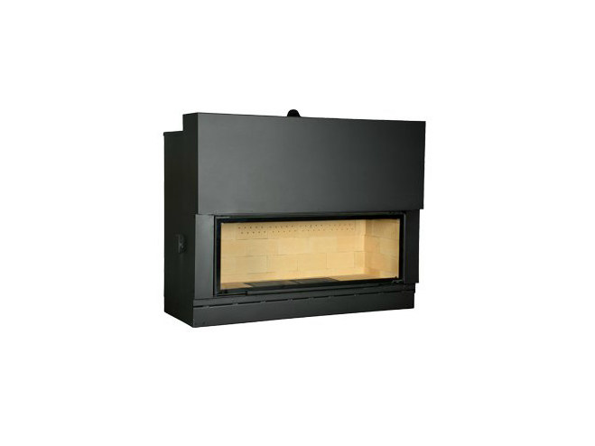 Steel Fireplace insert with Panoramic Glass F 1600 H by CHEMINEES SEGUIN