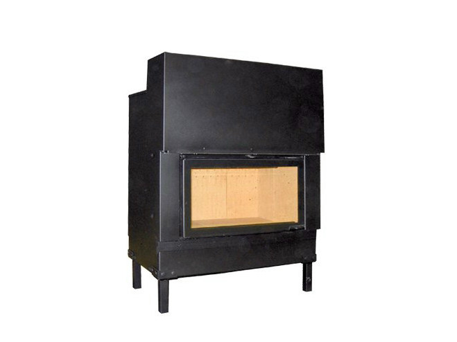 Steel Fireplace insert with Panoramic Glass F 800 H by CHEMINEES SEGUIN