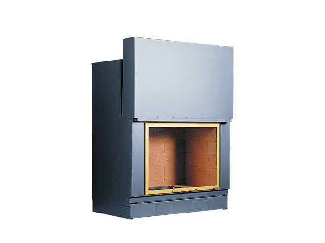 Steel Fireplace insert with Panoramic Glass F 1000 by CHEMINEES SEGUIN