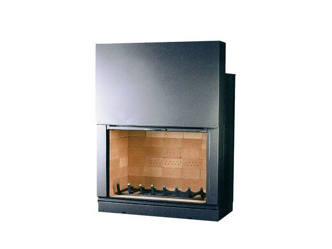 Steel Fireplace insert with Panoramic Glass F 1200 by CHEMINEES SEGUIN