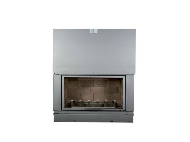 Steel Fireplace insert with Panoramic Glass F 1200 H by CHEMINEES SEGUIN