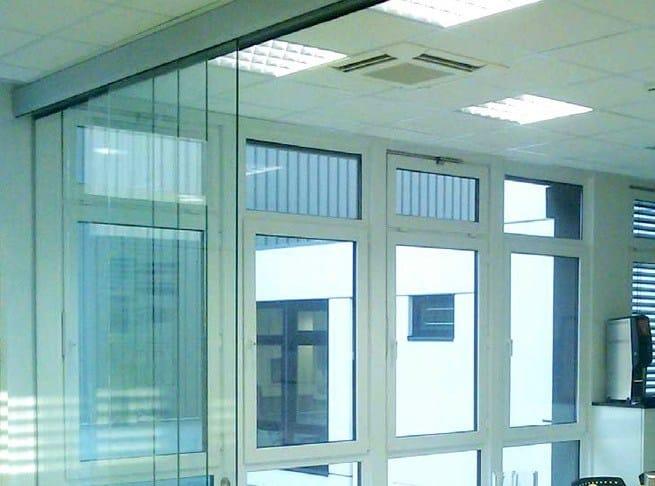 Metal sliding door track Telescopico Sincro A-3000 by Metalglas Bonomi