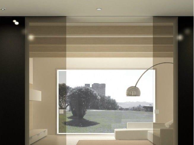 Metal sliding door track Invisible V-7000 V-7003 by Metalglas Bonomi