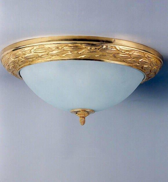 Bronze ceiling light 30510 | Ceiling light by Tisserant