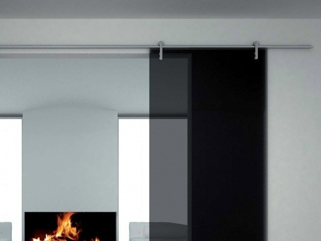 Metal sliding door track Minimal V-6000 by Metalglas Bonomi