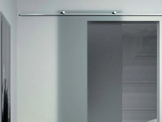 Metal sliding door track Ruota Minimal V-6100 by Metalglas Bonomi