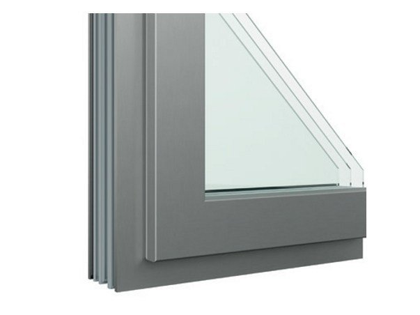 Aluminium and wood window with retractable Fibex sash Serie 503H by Agostinigroup