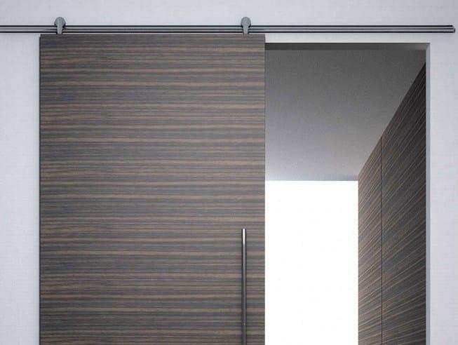 Metal sliding door track Minimal legno V-6040 by Metalglas Bonomi