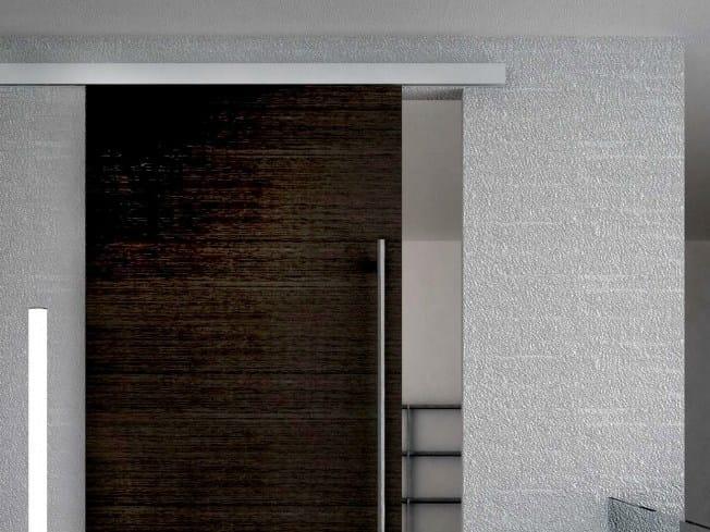Metal sliding door track Evolution legno Soft close V-5340 by Metalglas Bonomi