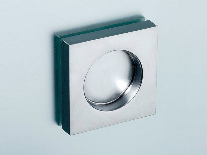 Metal glass door handle V-522 by Metalglas Bonomi