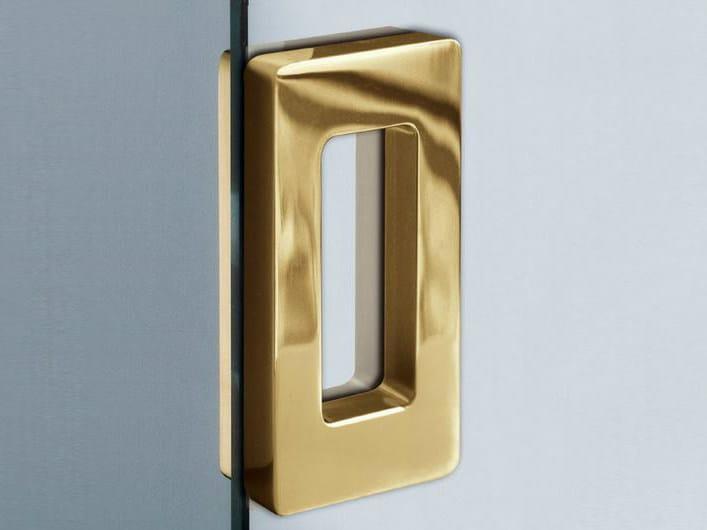 Metal glass door handle V-511 by Metalglas Bonomi