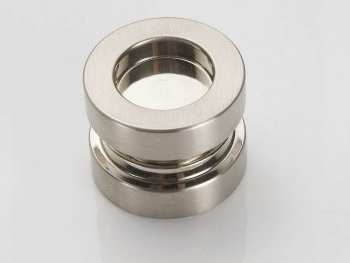 Metal glass door handle V-528 by Metalglas Bonomi
