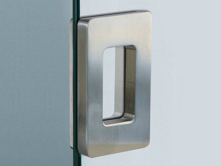 Metal glass door handle V-510 by Metalglas Bonomi