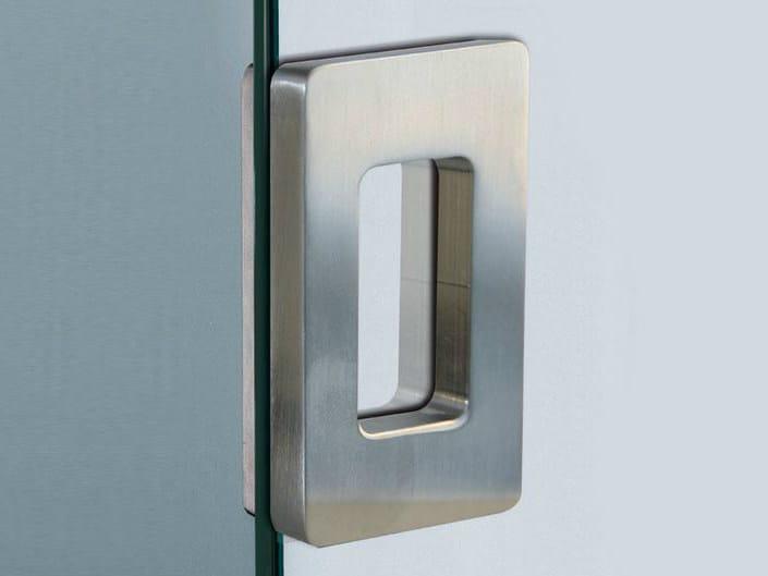 Metal glass door handle V-517 by Metalglas Bonomi