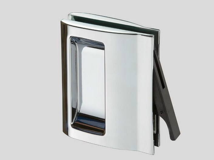 Metal glass door handle V-406 by Metalglas Bonomi
