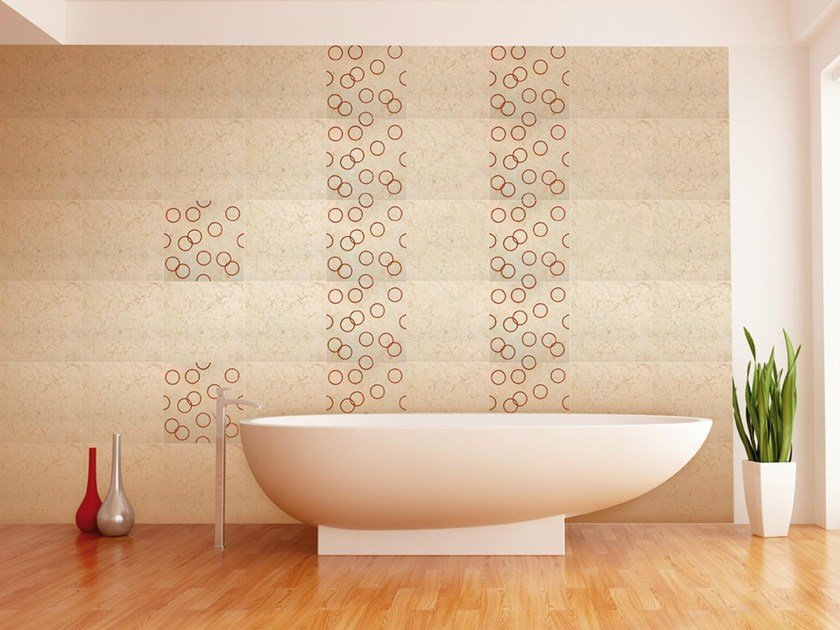 Natural stone and glass wall tiles METEORUS by RAMA 1956