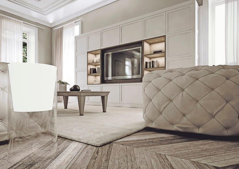 Parete attrezzata in legno con porta tv AETERNA | New Classic By L ...