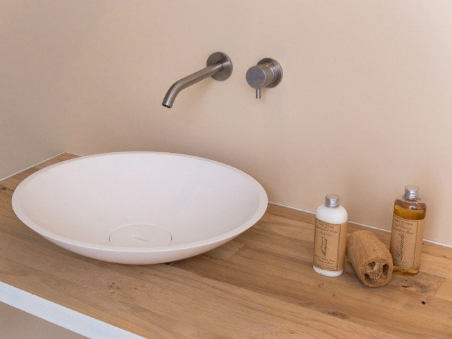 Countertop round Solid Surface washbasin COCOON BOWL 1.1 by COCOON
