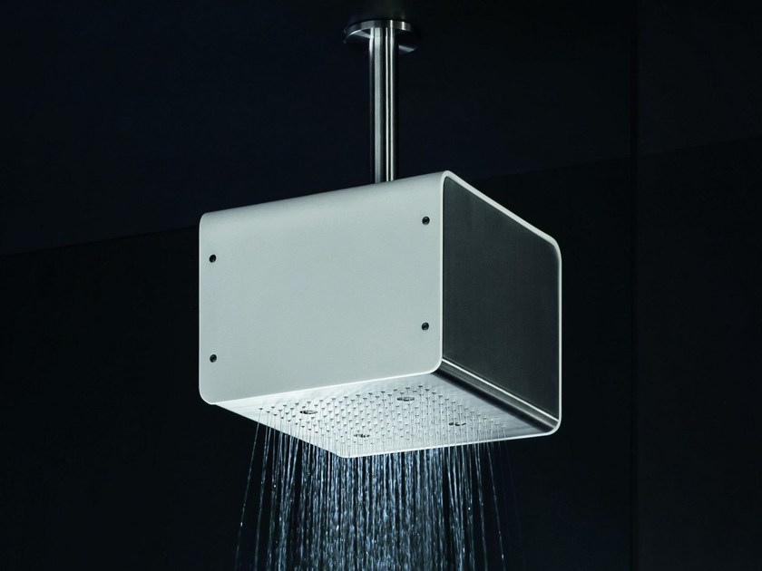 Ceiling mounted overhead shower for chromotherapy CUBO BIG | Overhead shower by GEDA