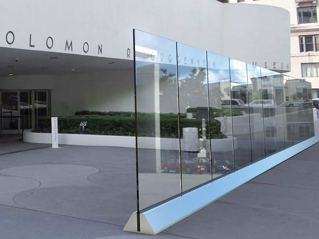 Modular screening glass Fence VELA L-600 by Metalglas Bonomi
