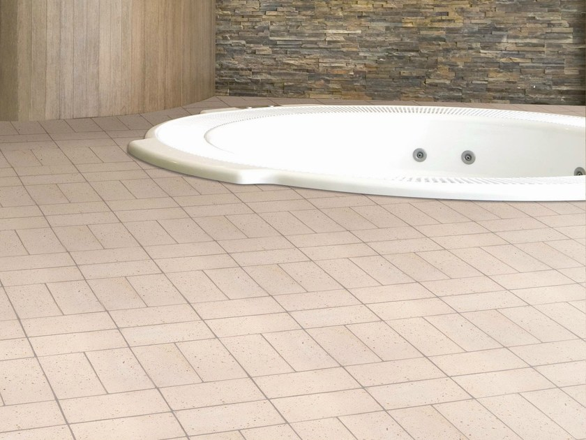 Quarry flooring Pockmarked terracotta - White by Danilo Ramazzotti
