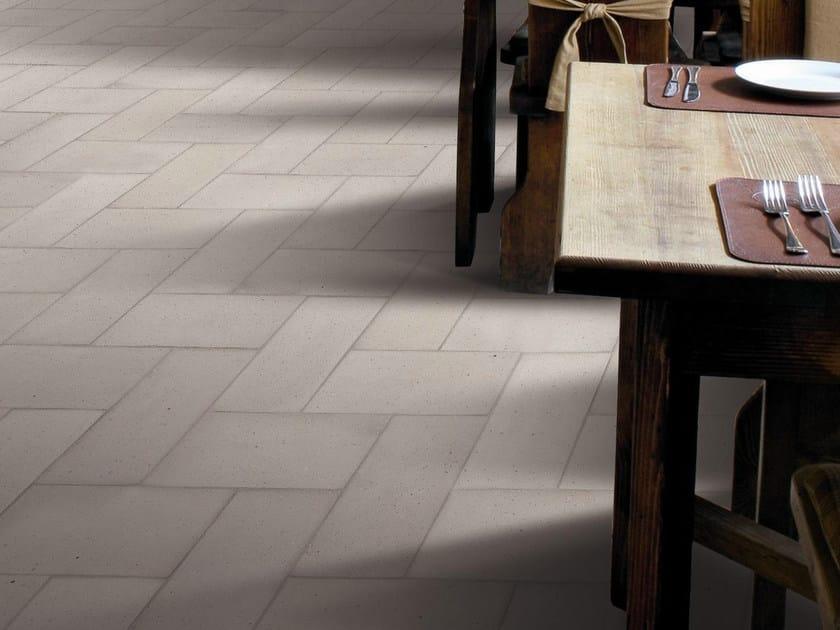 Quarry flooring Pockmarked terracotta - Dove Gray by Danilo Ramazzotti