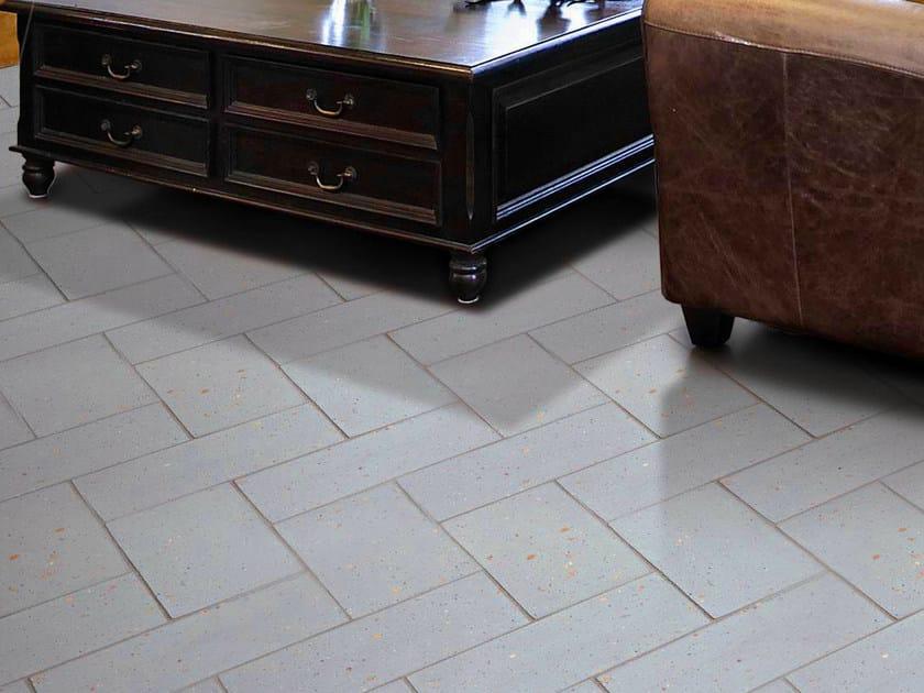 Quarry flooring Pockmarked terracotta - Lightblue by Danilo Ramazzotti