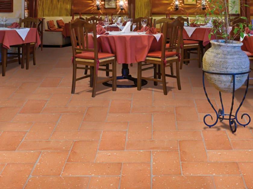 Quarry flooring Pockmarked terracotta - Red by Danilo Ramazzotti