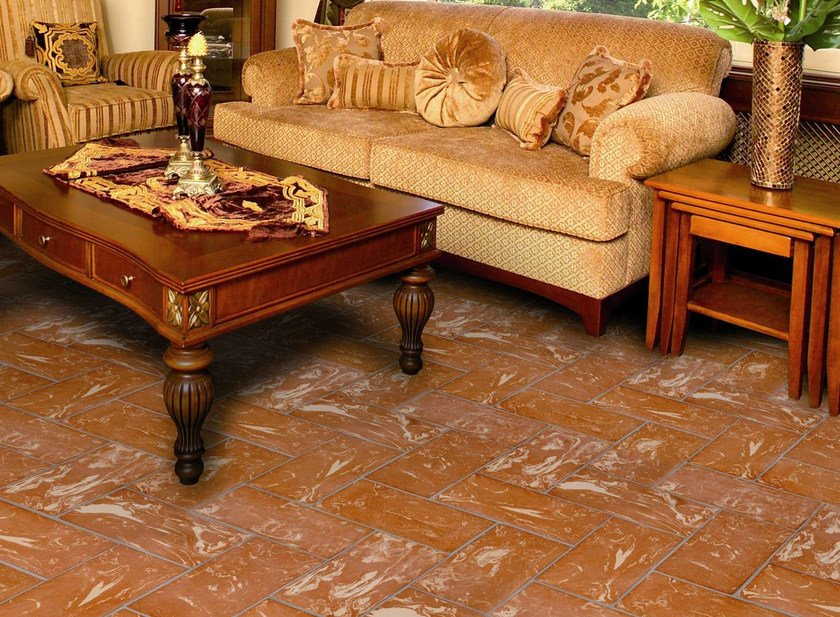 Quarry flooring Red cotto variegated yellow by Danilo Ramazzotti
