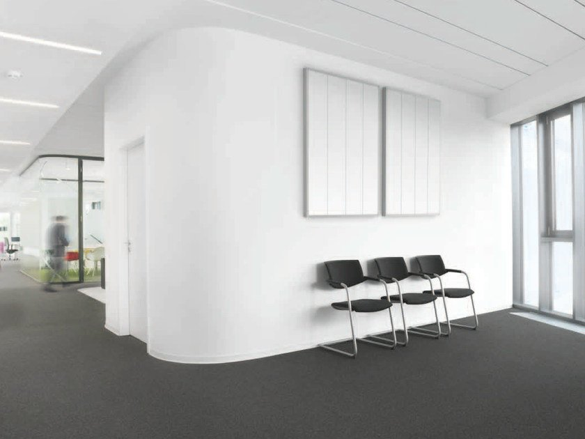 Decorative acoustical panel AMF Line Classic by Knauf Amf