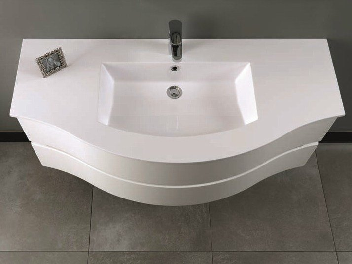 Single vanity unit with drawers UNICO 21 by Mobiltesino