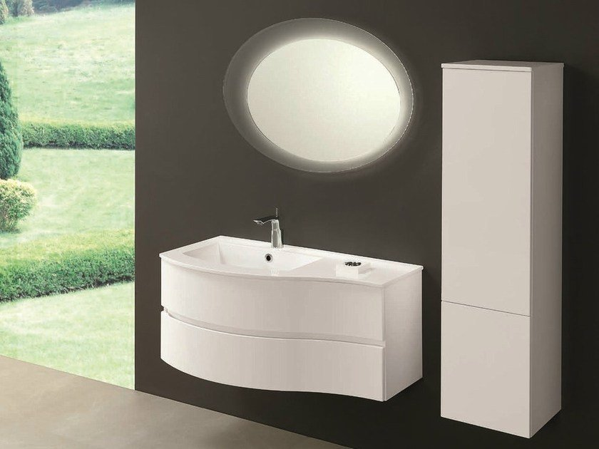 Single vanity unit with drawers UNICO 10 by Mobiltesino