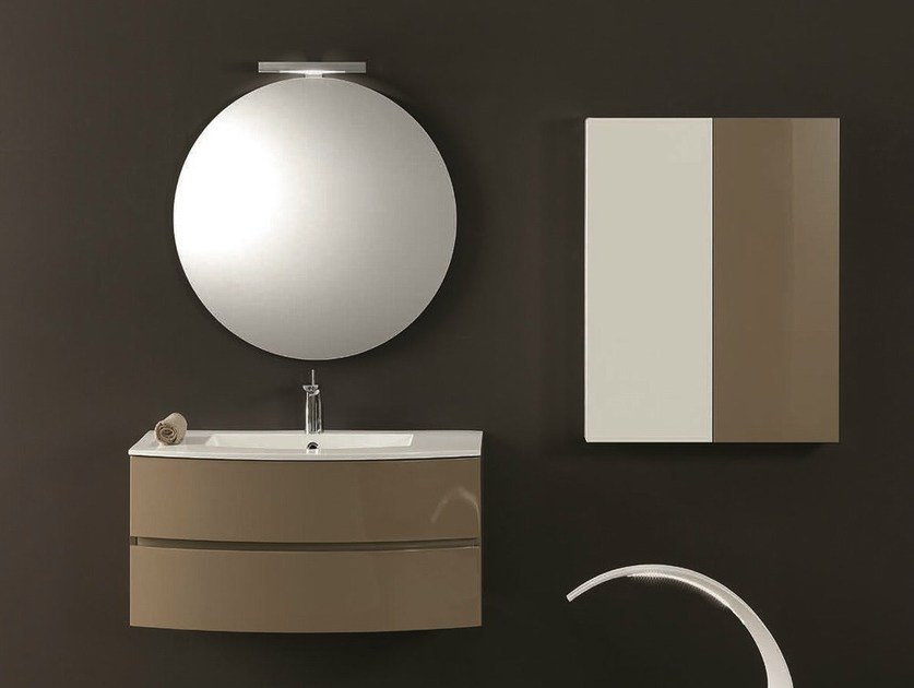 Single vanity unit with drawers UNICO 05 by Mobiltesino