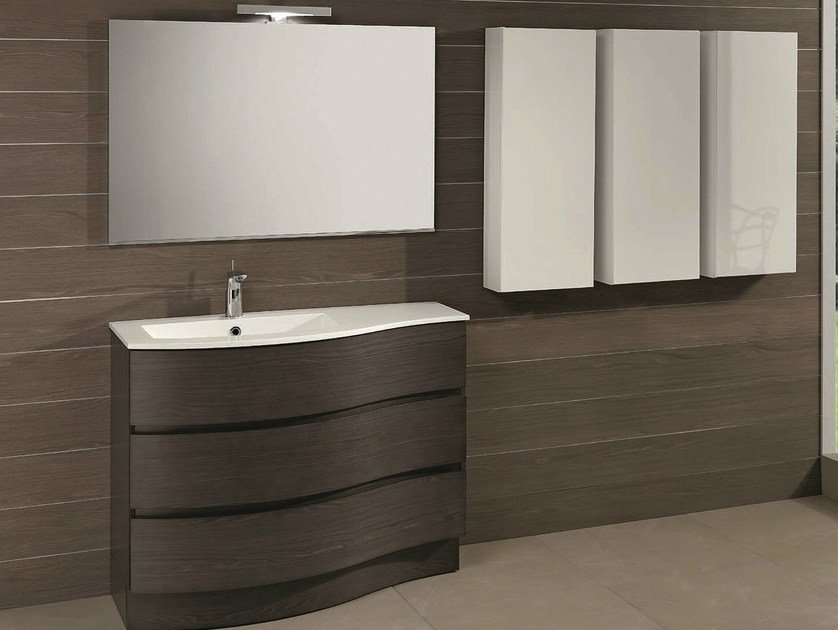 mobile lavabo freestanding con cassetti unico 41 by mobiltesino - Mobiltesino Arredo Bagno