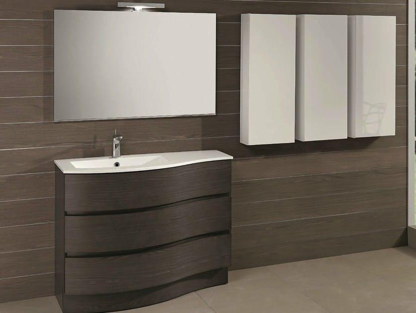 Floor-standing vanity unit with drawers UNICO 41 by Mobiltesino
