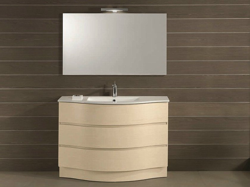 Floor-standing vanity unit with drawers UNICO 31 by Mobiltesino