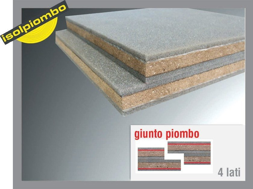 Sound insulation and sound absorbing felt with lead-laminate SUPERBILAMINA by Thermak by MATCO