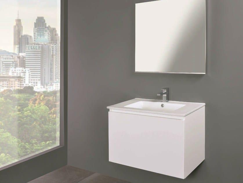 Single wall-mounted vanity unit LINK 02 by Mobiltesino