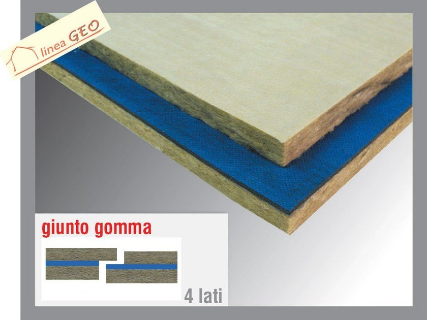 Rock wool Sound insulation and sound absorbing panel in mineral fibre GEOGUM R by Thermak by MATCO