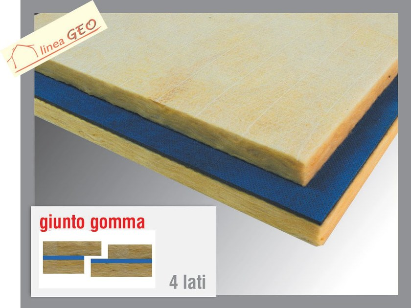 Glass wool Sound insulation and sound absorbing panel in mineral fibre GEOGUM V by Thermak by MATCO