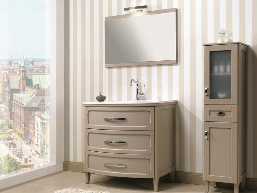 Floor-standing vanity unit with drawers NATURA 43 | Vanity unit by Mobiltesino