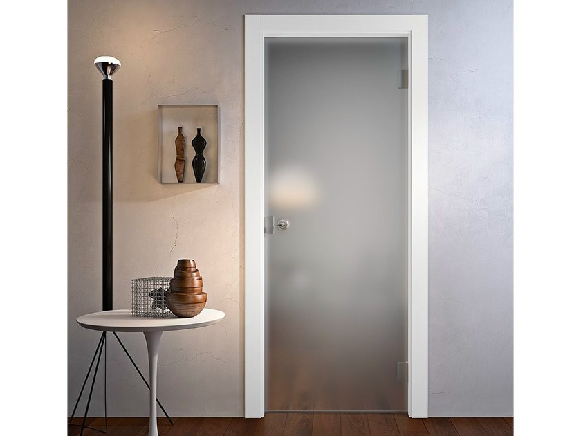 Hinged glass door without frame AVIO | Door without frame by GIDEA
